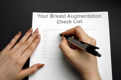 Breast Augmentation Checklist